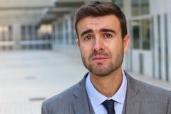 Δυστυχισμένο άτομο που φωνάζει με την απελπισία Στοκ φωτογραφίες με δικαίωμα ελεύθερης χρήσης