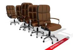 Δυσχέρεια προώθησης, εκτελεστικές καρέκλες Στοκ εικόνες με δικαίωμα ελεύθερης χρήσης