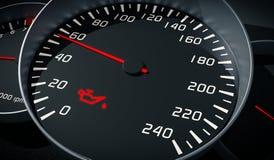 Δυσλειτουργία πετρελαίου και μηχανών που προειδοποιεί τον ελαφρύ έλεγχο στο ταμπλό αυτοκινήτων ελεύθερη απεικόνιση δικαιώματος