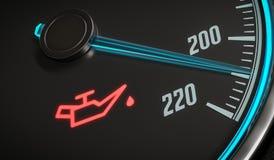 Δυσλειτουργία πετρελαίου και μηχανών που προειδοποιεί τον ελαφρύ έλεγχο στο ταμπλό αυτοκινήτων απεικόνιση που δίνεται τρισδιάστατ διανυσματική απεικόνιση