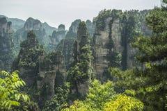 Δυτικά διάσημα βουνά Zhangjiajie της Κίνας hunan Στοκ φωτογραφία με δικαίωμα ελεύθερης χρήσης