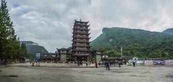 Δυτικά διάσημα βουνά Zhangjiajie της Κίνας hunan Στοκ Εικόνα