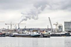 Δυτικά λιμάνια στο Άμστερνταμ στοκ εικόνες