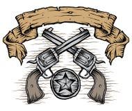 Δυτικά πυροβόλα όπλα ελεύθερη απεικόνιση δικαιώματος
