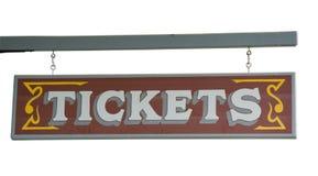 δυτικές άγρια περιοχές εισιτηρίων εισιτηρίων πινακίδων αντιπροσωπειών Στοκ εικόνες με δικαίωμα ελεύθερης χρήσης