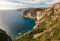 Δυτική ακτή της Ζάκυνθου, Ελλάδα Στοκ Εικόνα