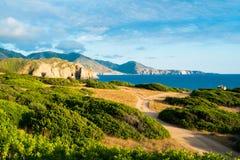 Δυτική ακτή της Σαρδηνίας στοκ εικόνες