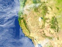 Δυτική ακτή των ΗΠΑ στο πλανήτη Γη διανυσματική απεικόνιση