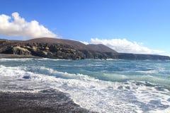 Δυτική ακτή Fuerteventura, Κανάρια νησιά στοκ φωτογραφία με δικαίωμα ελεύθερης χρήσης
