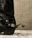Δυτική μπότα κάουμποϋ με το κέντρισμα Στοκ εικόνα με δικαίωμα ελεύθερης χρήσης