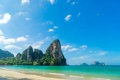 Δυτική παραλία Railay στο AO Nang, Krabi Ταϊλάνδη Στοκ φωτογραφίες με δικαίωμα ελεύθερης χρήσης