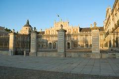 Δυτική πρόσοψη του παλατιού του Αρανχουέζ Στοκ εικόνα με δικαίωμα ελεύθερης χρήσης