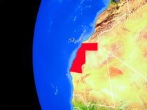 Δυτική Σαχάρα από το διάστημα ελεύθερη απεικόνιση δικαιώματος