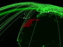 Δυτική Σαχάρα στην πράσινη σφαίρα διανυσματική απεικόνιση