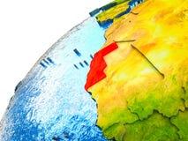 Δυτική Σαχάρα στην τρισδιάστατη γη ελεύθερη απεικόνιση δικαιώματος