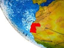 Δυτική Σαχάρα στην τρισδιάστατη γη απεικόνιση αποθεμάτων