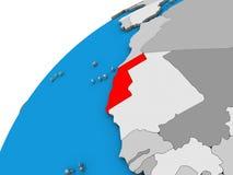 Δυτική Σαχάρα στην τρισδιάστατη σφαίρα ελεύθερη απεικόνιση δικαιώματος