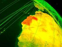 Δυτική Σαχάρα στην ψηφιακή σφαίρα διανυσματική απεικόνιση