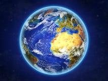 Δυτική Σαχάρα στη γη από το διάστημα απεικόνιση αποθεμάτων