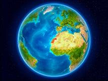 Δυτική Σαχάρα στη γη διανυσματική απεικόνιση