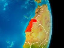 Δυτική Σαχάρα στη γη ελεύθερη απεικόνιση δικαιώματος