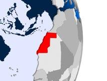 Δυτική Σαχάρα στη σφαίρα διανυσματική απεικόνιση