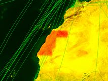 Δυτική Σαχάρα στον ψηφιακό χάρτη ελεύθερη απεικόνιση δικαιώματος