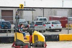 ΔΥΤΙΚΟ ΒΕΡΟΛΊΝΟ, NJ - 28 ΜΑΐΟΥ: Το Diggerland ΗΠΑ, κατασκευή το πάρκο περιπέτειας Στοκ Φωτογραφίες