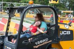 ΔΥΤΙΚΟ ΒΕΡΟΛΊΝΟ, NJ - 28 ΜΑΐΟΥ: Το Diggerland ΗΠΑ, κατασκευή το πάρκο περιπέτειας Στοκ εικόνες με δικαίωμα ελεύθερης χρήσης