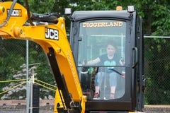 ΔΥΤΙΚΟ ΒΕΡΟΛΊΝΟ, NJ - 28 ΜΑΐΟΥ: Το Diggerland ΗΠΑ, κατασκευή το πάρκο περιπέτειας Στοκ φωτογραφία με δικαίωμα ελεύθερης χρήσης