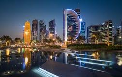 Δυτικός κόλπος Doha Στοκ Εικόνα