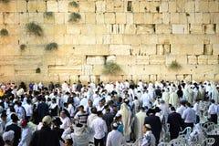 Δυτικός τοίχος, Kotel, τοίχος Ιερουσαλήμ Wailing σε Yom Kippur, Εβραίοι που συλλέγει για την προσευχή ΙΣΡΑΗΛ στοκ εικόνα