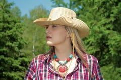 Δυτικό κορίτσι Στοκ εικόνα με δικαίωμα ελεύθερης χρήσης