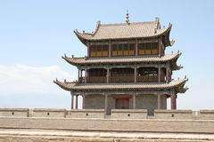 Δυτικό Σινικό Τείχος Yu Guan Jia, δρόμος Κίνα μεταξιού Στοκ εικόνες με δικαίωμα ελεύθερης χρήσης