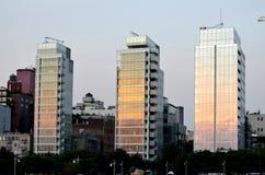 Δυτικό χωριό NYC πύργων του Richard Meier κατοικημένο Στοκ Εικόνα