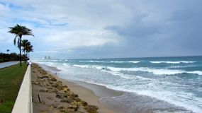 Δυτικό Palm Beach Ατλαντικός Ωκεανός Στοκ Εικόνα