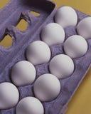 δωδεκάα αυγά κίτρινα Στοκ Φωτογραφίες
