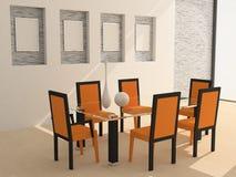 δωμάτιο γευμάτων Στοκ εικόνα με δικαίωμα ελεύθερης χρήσης