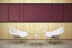 δωμάτιο δύο πολυθρόνων ξύλ Στοκ Εικόνα