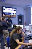 Δωμάτιο ελέγχου ΑΤΛΆΝΤΩΝ Κέντρο Πυρηνικών Μελετών και Ερευνών (CERN) Στοκ φωτογραφίες με δικαίωμα ελεύθερης χρήσης