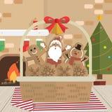 Δωμάτιο εστιών Άγιου Βασίλη μπισκότων Χριστουγέννων διανυσματική απεικόνιση