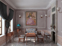 δωμάτιο εστιών σχεδίων Στοκ φωτογραφία με δικαίωμα ελεύθερης χρήσης