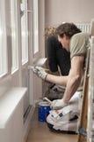 δωμάτιο ζωγραφικής πορτών ξύλινο στοκ εικόνες με δικαίωμα ελεύθερης χρήσης