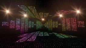 Δωμάτιο και κύματα μουσικής, με τις σημειώσεις, ζωτικότητα βολβών φω'των, απόδοση, υπόβαθρο, βρόχος απόθεμα βίντεο