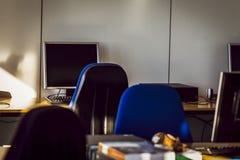 Δωμάτιο κατάρτισης με το PC Στοκ Εικόνες