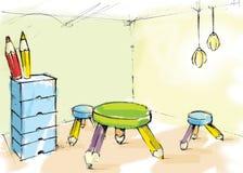 δωμάτιο κατσικιών Στοκ φωτογραφία με δικαίωμα ελεύθερης χρήσης
