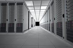Δωμάτιο κεντρικών υπολογιστών στοκ εικόνες με δικαίωμα ελεύθερης χρήσης