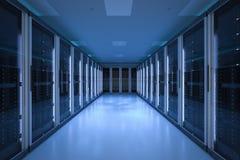 Δωμάτιο κεντρικών υπολογιστών ή υπολογιστές κεντρικών υπολογιστών Στοκ φωτογραφία με δικαίωμα ελεύθερης χρήσης