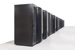 Δωμάτιο κεντρικών υπολογιστών δικτύων στοκ εικόνα