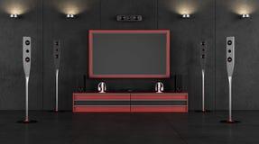 Δωμάτιο κινηματογράφων Στοκ φωτογραφίες με δικαίωμα ελεύθερης χρήσης